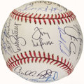 Autographs:Baseballs, 1993 Oakland Athletics Team Signed Baseball (29 Signatures)....