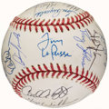 Autographs:Baseballs, 1995 Oakland Athletics Team Signed Baseball (30 Signatures)....