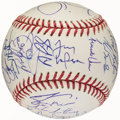 Baseball Collectibles:Balls, 2001 St. Louis Cardinals Team Signed Baseball (29 Signatures)....
