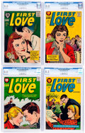 Silver Age (1956-1969):Romance, First Love Illustrated CGC-Graded File Copies Group of 4 (Harvey,1957) CGC VF 8.0.... (Total: 4 Comic Books)