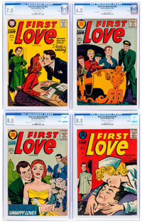 First Love Illustrated CGC-Graded File Copies Group of 4 (Harvey, 1956).... (Total: 4 Comic Books)