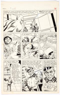 Original Comic Art:Panel Pages, Mike Sekowsky and Frank Giacoia T.H.U.N.D.E.R. Agents #4Story Page 4 Lightning Original Art (Tower, 1966)....
