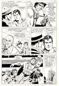 Curt Swan and Frank Chiaramonte Action Comics #521 Story Page 7 Original Art (DC Comics, 1981)