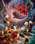 Memorabilia:Disney, Carl Barks Afoul of the Flying Dutchman Signed Limited Edition Lithograph Print #174/345 (Another Rainbow, 1985)....
