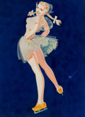 Mainstream Illustration, George Petty (American, 1894-1975). Dutch Girl, Ice Capades,1948. Watercolor on board. 14.5 x 10.75 in. (sight). Signed...