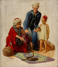 Mainstream Illustration, Russell Sambrook (American, 1891-1956). Snake Charmer, AmericanBoy magazine cover, July 1931. Oil on canvas. 24 x 21 in...