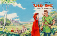 Stephen Grimes (English, 1927-1988) Walt Disney's Story of Robin Hood and his Merrie Men, book cover, 1