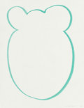 Fine Art - Work on Paper:Print, Jeff Koons (b. 1954). Untitled, 1999. Ink on paper. 11 x8-1/2 inches (27.9 x 21.6 cm) (sheet). Initialed and dated lowe...
