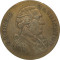 """Political:Tokens & Medals, George Washington: The Scarcer Large Size """"Success"""" Token. ..."""