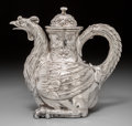Silver Holloware, Continental:Holloware, A Vereinigte Silberwarenfabriken German Silver Figural Rooster-FormCoffee Pot, Hanau, Germany, circa 1920. Marks: (shield-V...