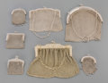 Silver Holloware, Continental:Holloware, Seven Silver Mesh Lady's Purses, late 19th-20th centuries. Marks:(various). 12 inches high (30.5 cm) (largest, including st...(Total: 7 Items)