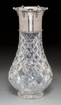 Silver Holloware, Continental:Holloware, A Danish Silver-Mounted and Cut-Glass Vase, circa 1927. Marks: (three towers-27), CHF, DTA, GTG. 11 inches high (27.9 cm...