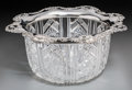 Silver Holloware, American:Bowls, A Large Gorham Cut-Glass and Silver-Mounted Punch Bowl, Providence,Rhode Island, circa 1899. Marks: (lion-anchor-G), STER...
