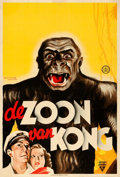 """Movie Posters:Horror, Son of Kong (RKO, 1934). Dutch Poster (24"""" X 34.5""""). Frans Mettes Artwork.. ..."""