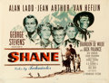 "Movie Posters:Western, Shane (Paramount, 1953). Half Sheet (22"" X 28"") Ercole Brini Artwork.. ..."