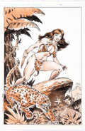 Original Comic Art:Splash Pages, Butch Burcham Jungle Woman Splash Page Original Art(Burcham, 2007)....