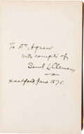 Books:Signed Editions, [Samuel Clemens]. Mark Twain and Charles Dudley Warner: TheGilded Age....