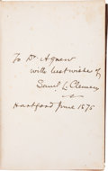 Books:Signed Editions, [Samuel Clemens]. Mark Twain: Roughing It....