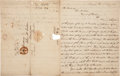Autographs:Military Figures, [Creek War of 1836]. William Schley Autograph Letter Signed...