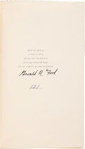 Books:Signed Editions, Gerald R. Ford Signed First Edition of A Time to Heal....