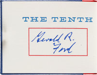 [Miniature Book]. Gerald Ford Signed Limited Edition Copy of The Tenth Convention