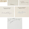 Autographs:Statesmen, Chief Justices of the Supreme Court Signatures (6).... (Total: 6Items)