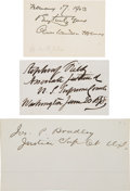 Autographs:Statesmen, Supreme Court Justices Signatures (3).... (Total: 3 Items)