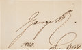 Autographs:Non-American, King George IV of England Signature,...