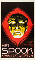"Movie Posters:Horror, The Phantom of the Opera (Universal, 1926). Dutch One Sheet (25"" X42"").. ..."