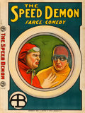 "Movie Posters:Comedy, The Speed Demon (Biograph Studios, 1912). British One Sheet (30"" X40"").. ..."