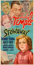 "Movie Posters:Musical, Stowaway (20th Century Fox, 1936). Three Sheet (41"" X 78"") StyleA.. ..."