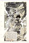 Original Comic Art:Splash Pages, Gil Kane Blackmark Paperback Page 111 Original Art (BantamBooks, 1971)....