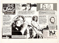 Stan Drake Pop Idols and the Disco SceneSunday Comic Strip Original Art dated 5-20-79 (Universal Press Syndicate