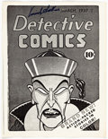 Memorabilia:Comic-Related, Detective Comics #1 Cover Black and White Photocopy Signed by Vincent Sullivan....