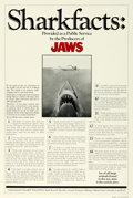 """Movie Posters:Horror, Jaws (Universal, 1975). One Sheet (27"""" X 41"""") Shark Facts Style....."""