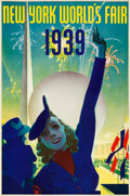 """Movie Posters:Miscellaneous, New York's World's Fair Travel Poster (Grinnell Litho.Co., 1939).Poster (20"""" X 30"""") Albert Staehle Artwork.. ..."""