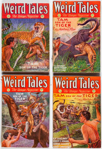 """Weird Tales """"Tam, Son of the Tiger"""" Group of 5 (Popular Fiction, 1931)Condition: VG except as noted.... (Total..."""