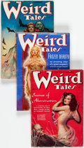 Pulps:Horror, Weird Tales Group of 7 (Popular Fiction, 1938) Condition: Average VG-.... (Total: 7 Items)