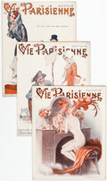Magazines:Miscellaneous, La Vie Parrisienne Group of 31 (1930) Condition: Average FN....(Total: 31 Items)