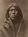 Photographs, Edward Sheriff Curtis (American, 1868-1952). Quinaika- Mohave, 1903. Platinum. 12-5/8 x 9-1/2 inches (32.1 x 24.1 cm). S...