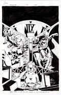Original Comic Art:Covers, Matt Haley and Wade von Grawbadger Birds of Prey TradePaperback Second-Printing Cover Black Canary Original Art (...