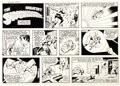 Original Comic Art:Comic Strip Art, George Tuska and Vince Colletta World's Greatest SuperheroesSunday Comic Strip Original Art dated 10-15-78 (C.T.N...