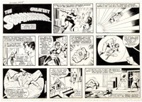 George Tuska and Vince Colletta World's Greatest Superheroes Sunday Comic Strip Original Art dated 10-15-78 (C.T.N