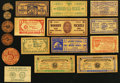 Obsoletes By State:Mixed States, MX - Lot of 61 Wooden Money Items.. ... (Total: 61 notes)
