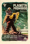 "Movie Posters:Science Fiction, Forbidden Planet (Cire, 1966). First Release Spanish Herald (4"" X5.5"").. ..."