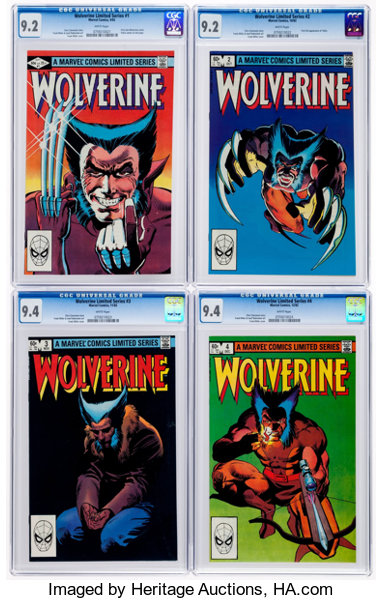 f93487d7e8c Wolverine #1-4 CGC-Graded Group (Marvel, 1982).... (Total: 4 Comic ...