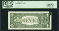 Error Notes:Ink Smears, Ink Smear On Back Error Fr. 1910-K $1 1977A Federal Reserve Note.PCGS Very Choice New 64PPQ.. ...