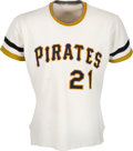 Baseball Collectibles:Uniforms, 1971 Roberto Clemente Game Worn Pittsburgh Pirates Jersey, MEARS A7.5....
