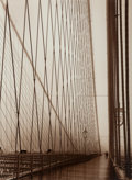 Prints & Multiples, Barbara Mensch (American, 20th Century). A Walk Across the Bridge, New York, November, 1998. Sepia-toned gelatin silver...