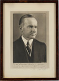 Autographs:U.S. Presidents, Calvin Coolidge: Signed Personalized Photograph....